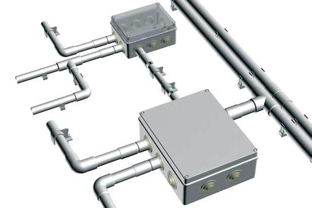 Электропроводки в металлических и пластиковых трубах