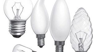 виды ламп накаливания для помещений
