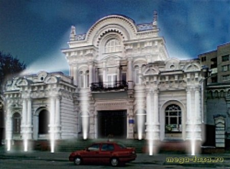 декоративная подсветка здания