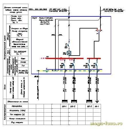 проект электроснабжения частного жилого дома