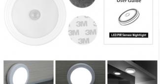 комплектация светильника с датчиком