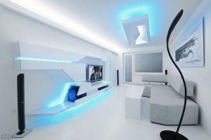 освещение интерьера потолка и мебели