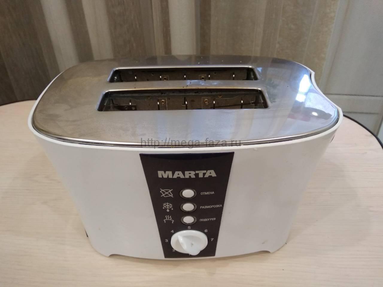 Ремонт бытового тостера